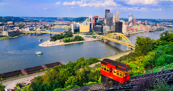 Flights from London to Pittsburgh